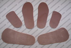 Flat leather insoles