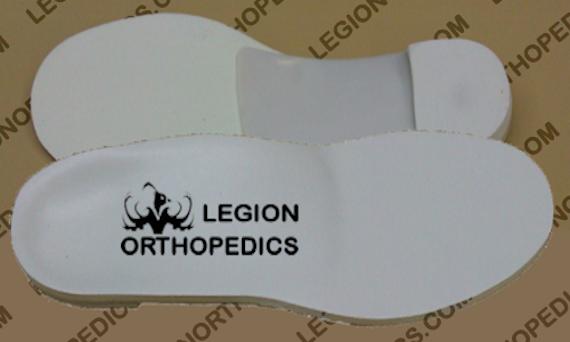Sample of custom logo on orthotic