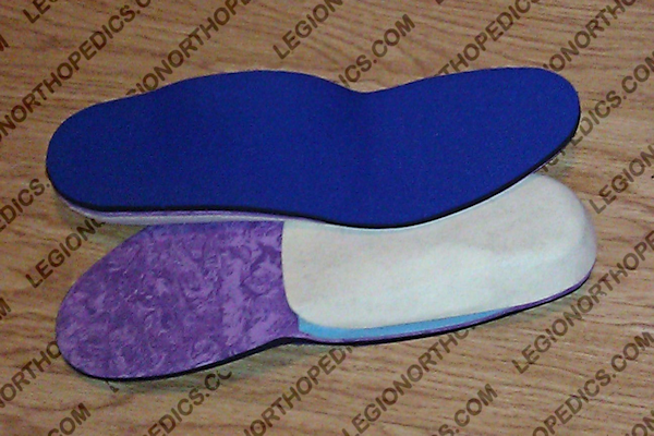 New orthotic with arch fill under the plate